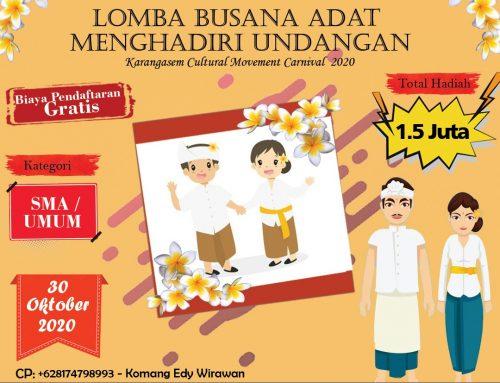 LOMBA BUSANA ADAT MENGHADIRI UNDANGAN (Karangasem Cultural Movement Carnival 2020)