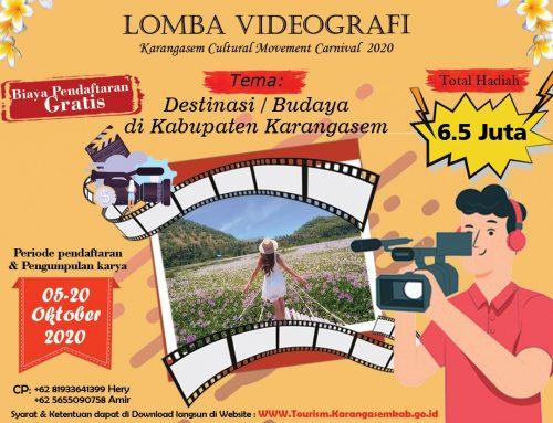 LOMBA VIDEOGRAFI (Event Karangasem Cultural Movement Carnival 2020)