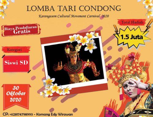 Lomba Tari Condong (Karangasem Cultural Movement Carnival 2020)