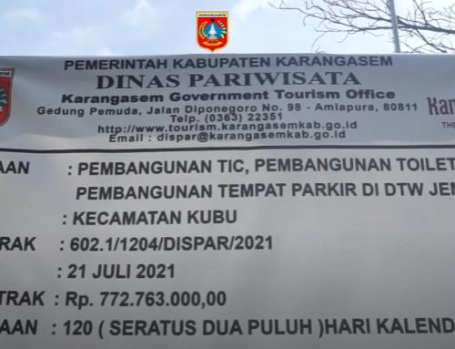 Wakil Bupati I Wayan Artha Dipa,SH.,MH meninjau pembangunan Obyek Wisata Tirta Jemeluk, Desa Purwekerti, Kecamatan Abang, Karangasem.